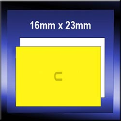 Plain Dual Price Gun Labels - 16mm x 23mm