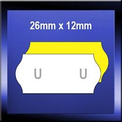 26mm x 12mm Plain Samark Labels with Horseshoe Cuts