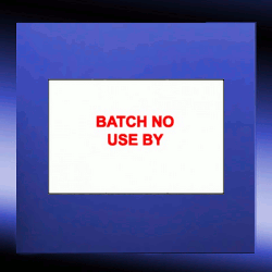 Batch No & Use By Labels | 16mm x 23mm
