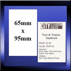 Stock Sandwich Labels 65mm x 95mm