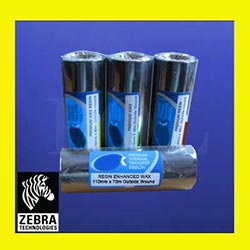 Zebra Resin Enhanced Wax Thermal Transfer Ribbons