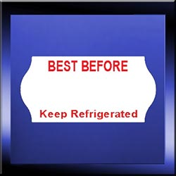 2612 Pre-Printed Best Before & Keep Refrigerated Labels