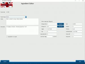 Ingredient Editor